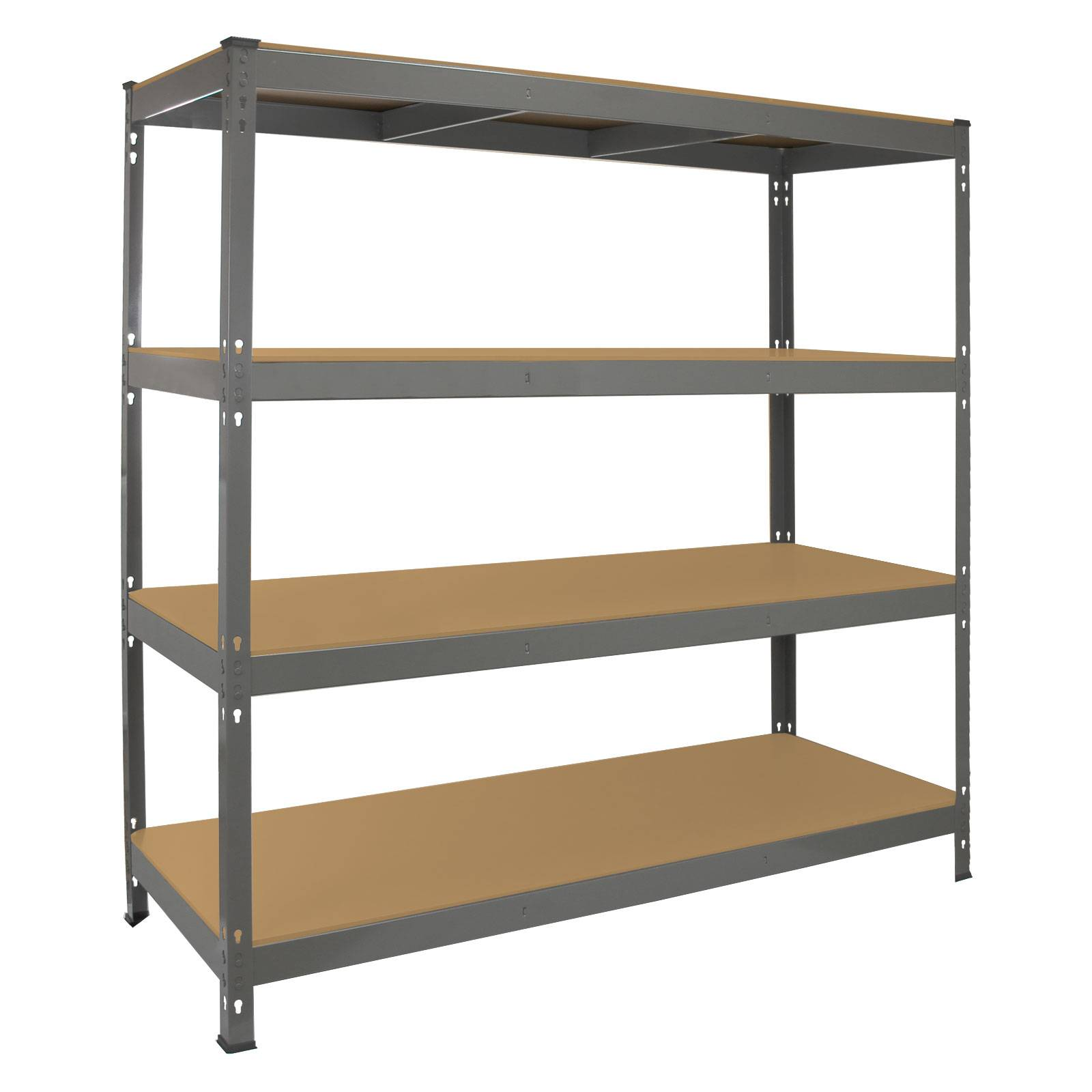 garage racking heavy duty shelving 4 tier unit boltless. Black Bedroom Furniture Sets. Home Design Ideas