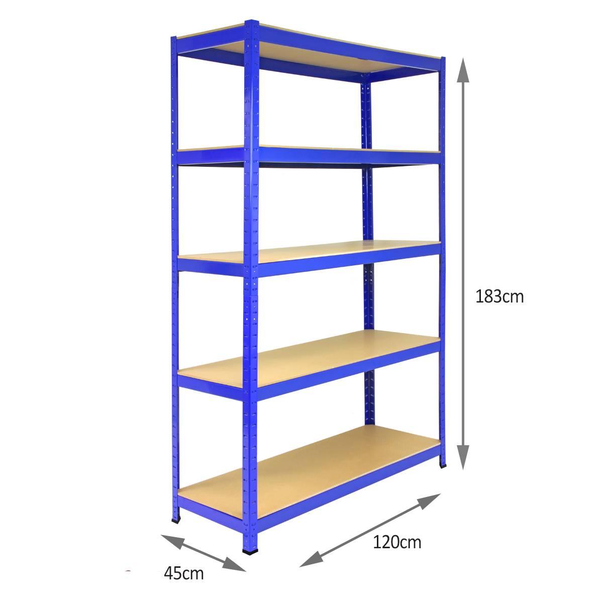 3 Bay Garage Racking Shelves Shed Greenhouse Shelving 5