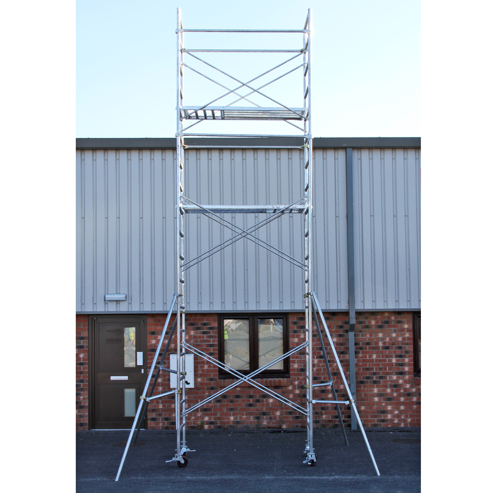 Portable Scaffolding Platform : Scaffold tower m mobile scaffolding heavy duty diy