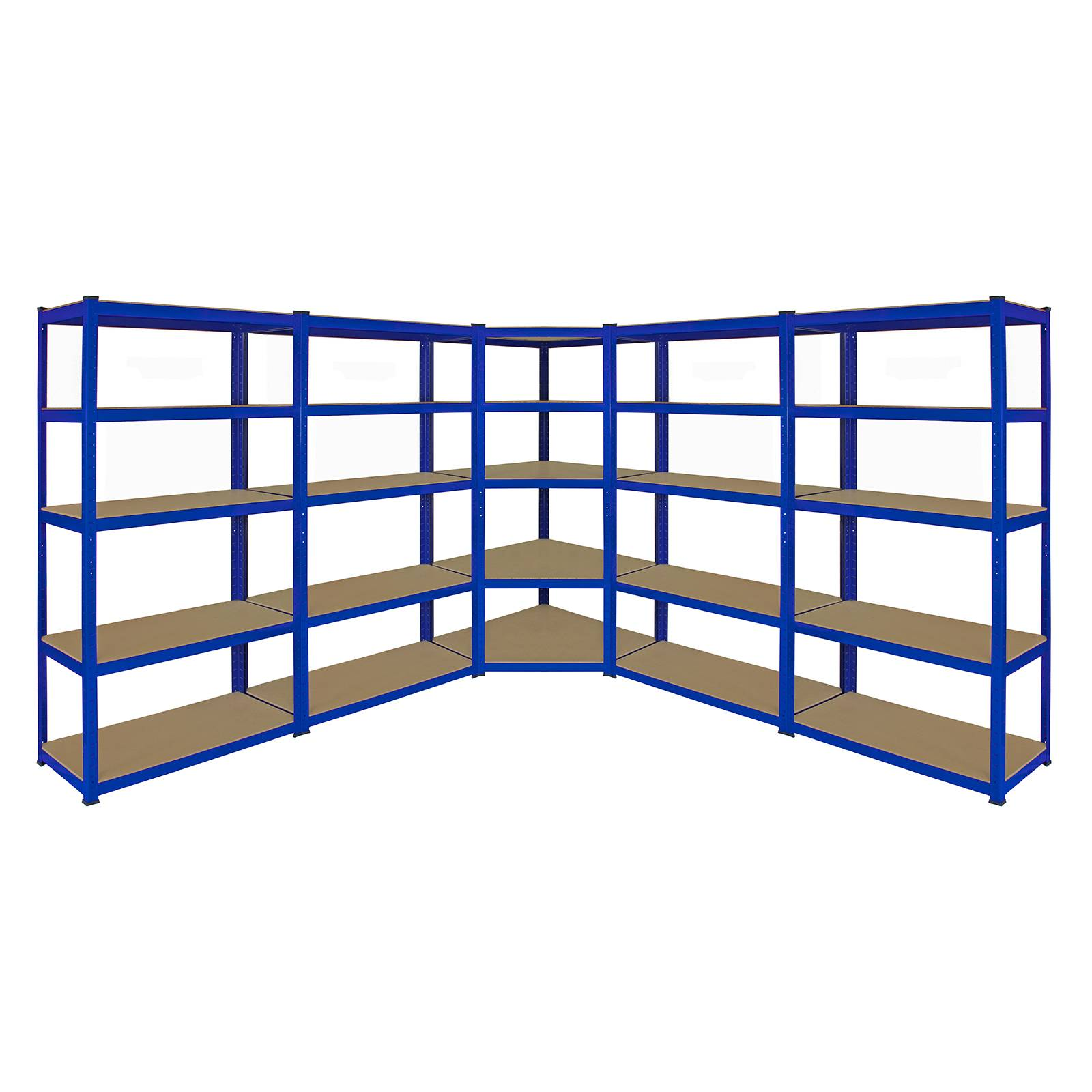 Heavy Duty Garage Shelving : Corner racking garage shelving cm bays metal