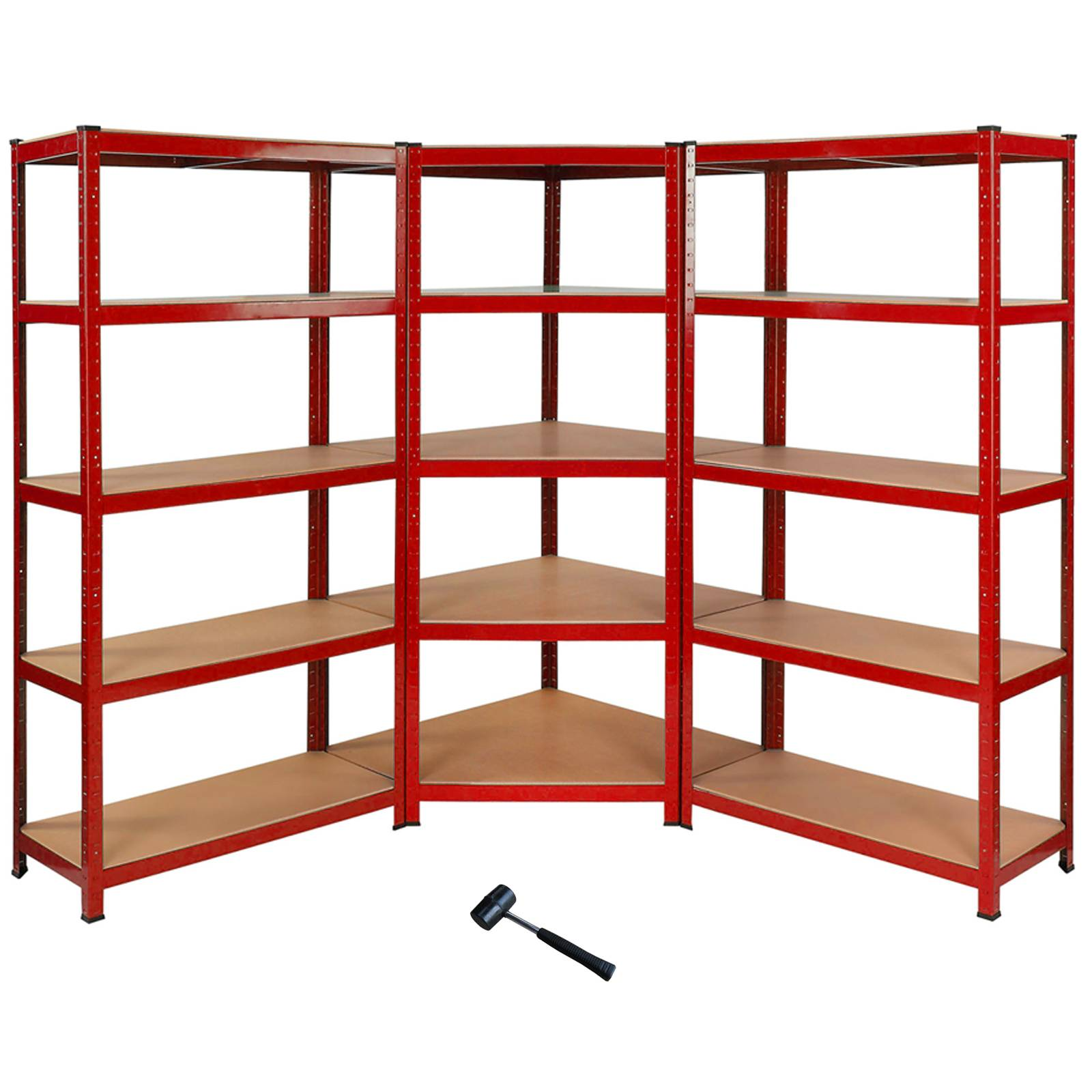 1 x corner racking garage shelving 2 x 90cm bays metal. Black Bedroom Furniture Sets. Home Design Ideas