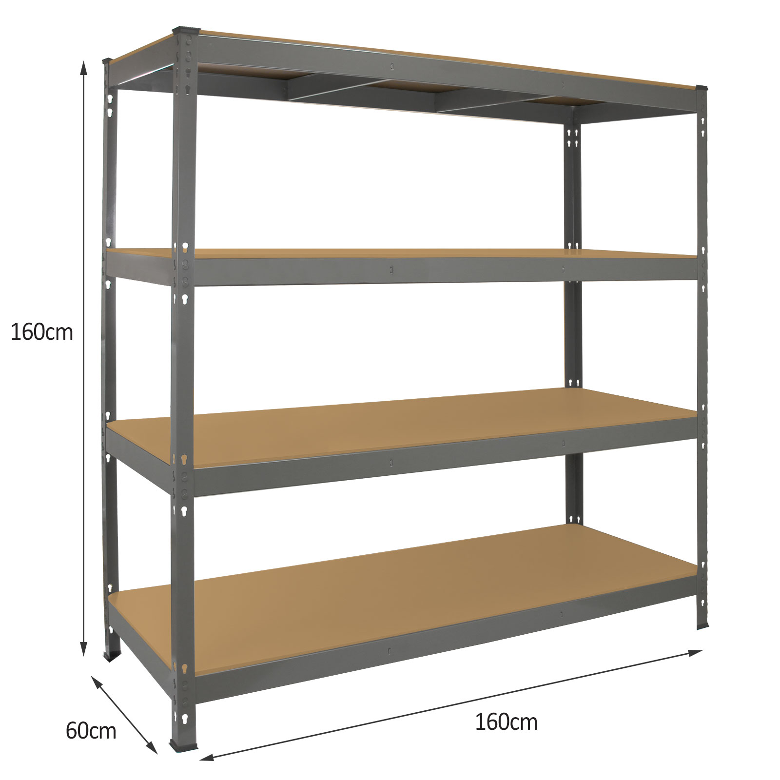 garage racking heavy duty shelving 4 tier unit boltless. Black Bedroom Furniture Sets. Home Design Ideas