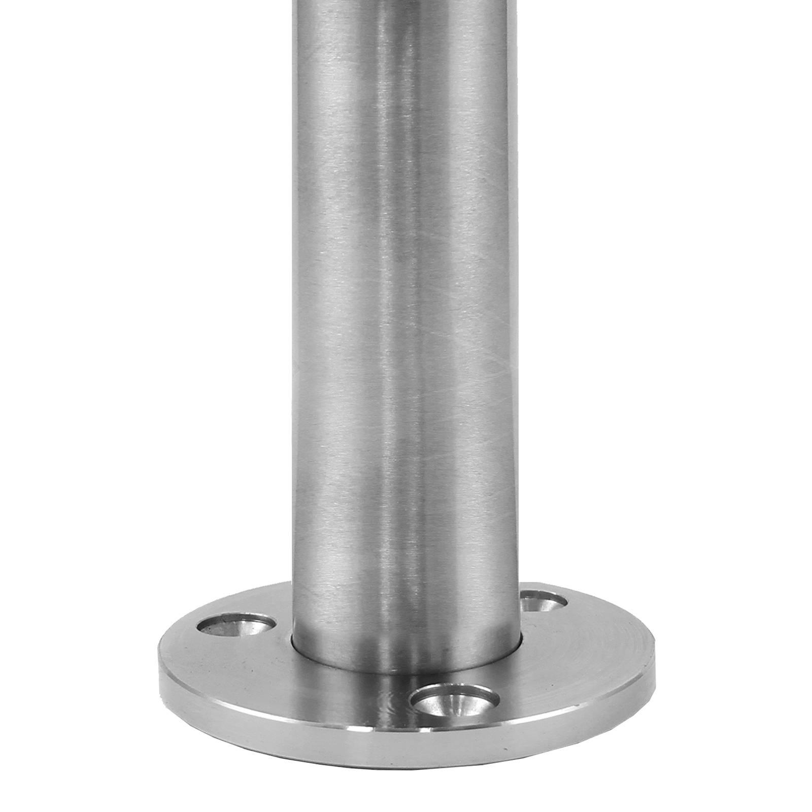 Stainless Steel Safandarley Metalworking Mexico: Brushed Metal Balustrade Stainless Steel End Post Decking