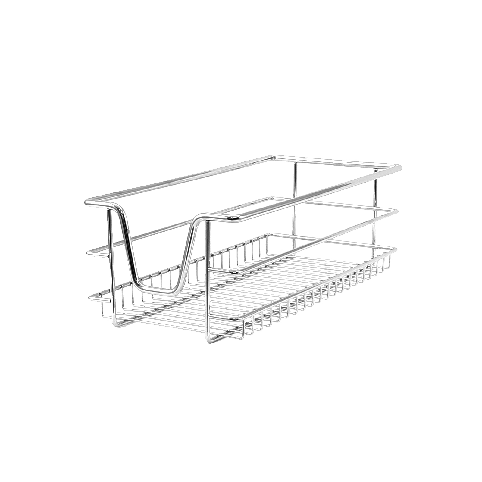 3 kitchen wire baskets pull out storage drawer slide out larder cupboard 30cm ebay. Black Bedroom Furniture Sets. Home Design Ideas
