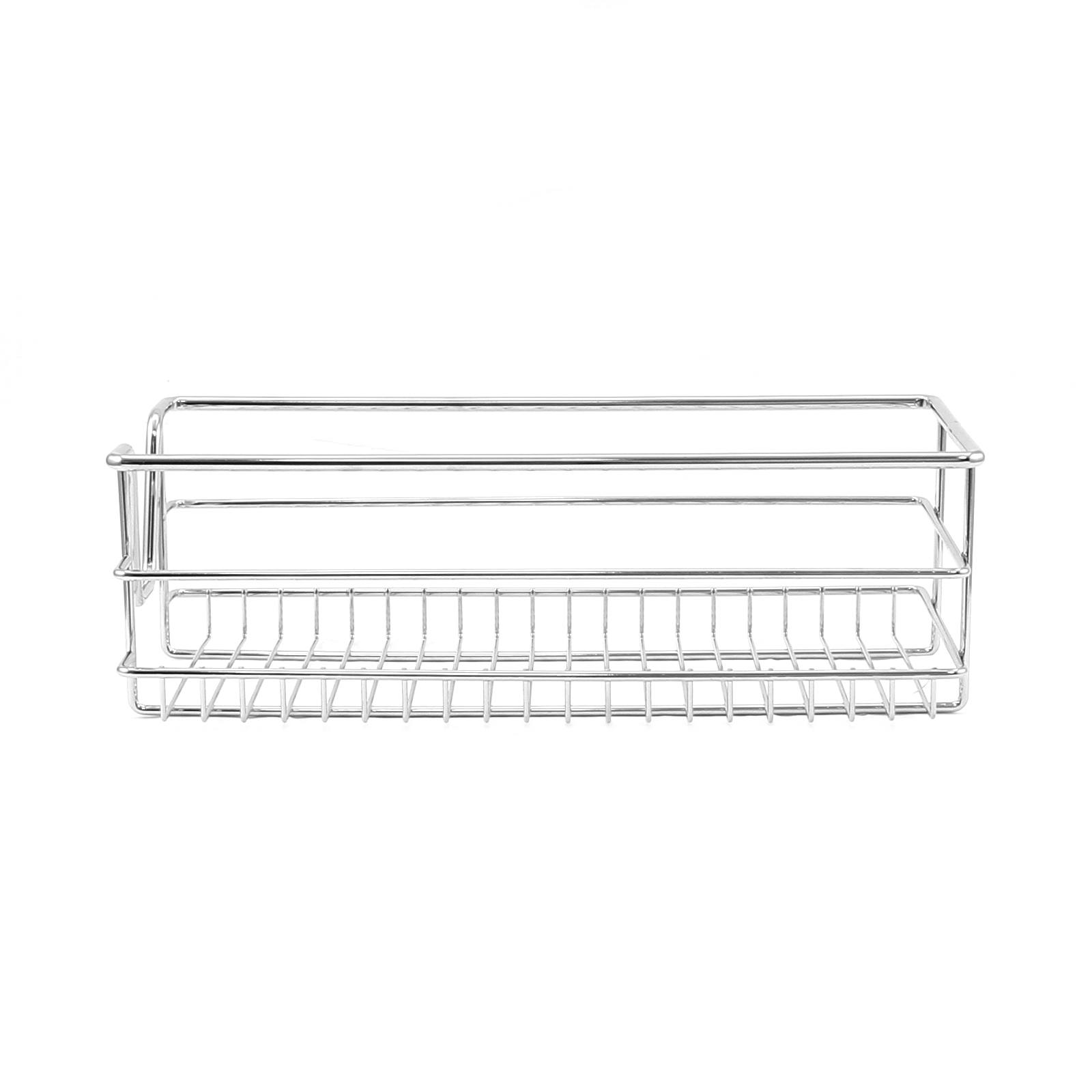 2 kitchen wire baskets pull out storage drawer slide out larder cupboard 30cm ebay. Black Bedroom Furniture Sets. Home Design Ideas