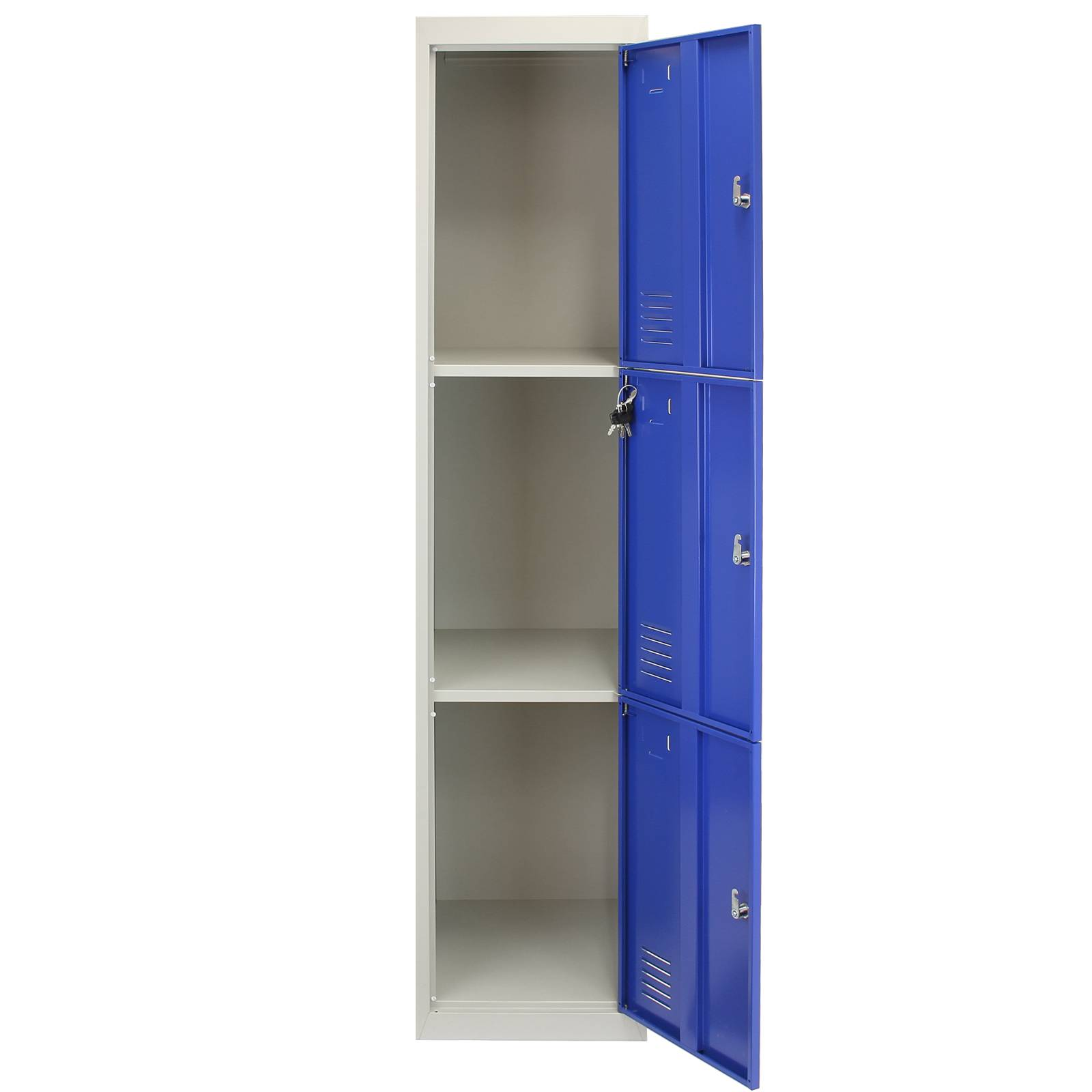 metal storage locker metal lockers 3 doors steel staff lockable storage 23292