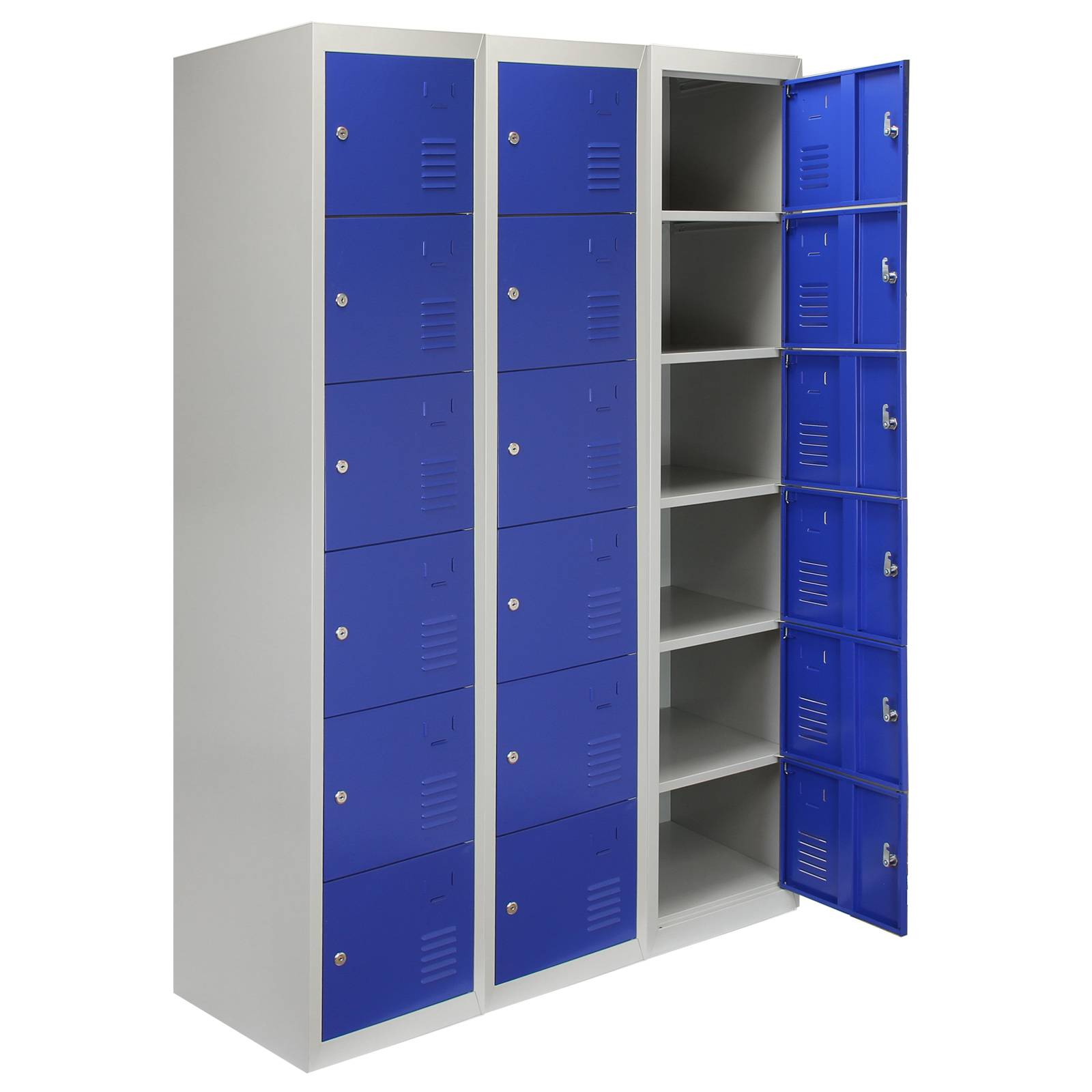 metal storage locker steel lockers 6 doors lockable metal storage staff 23292