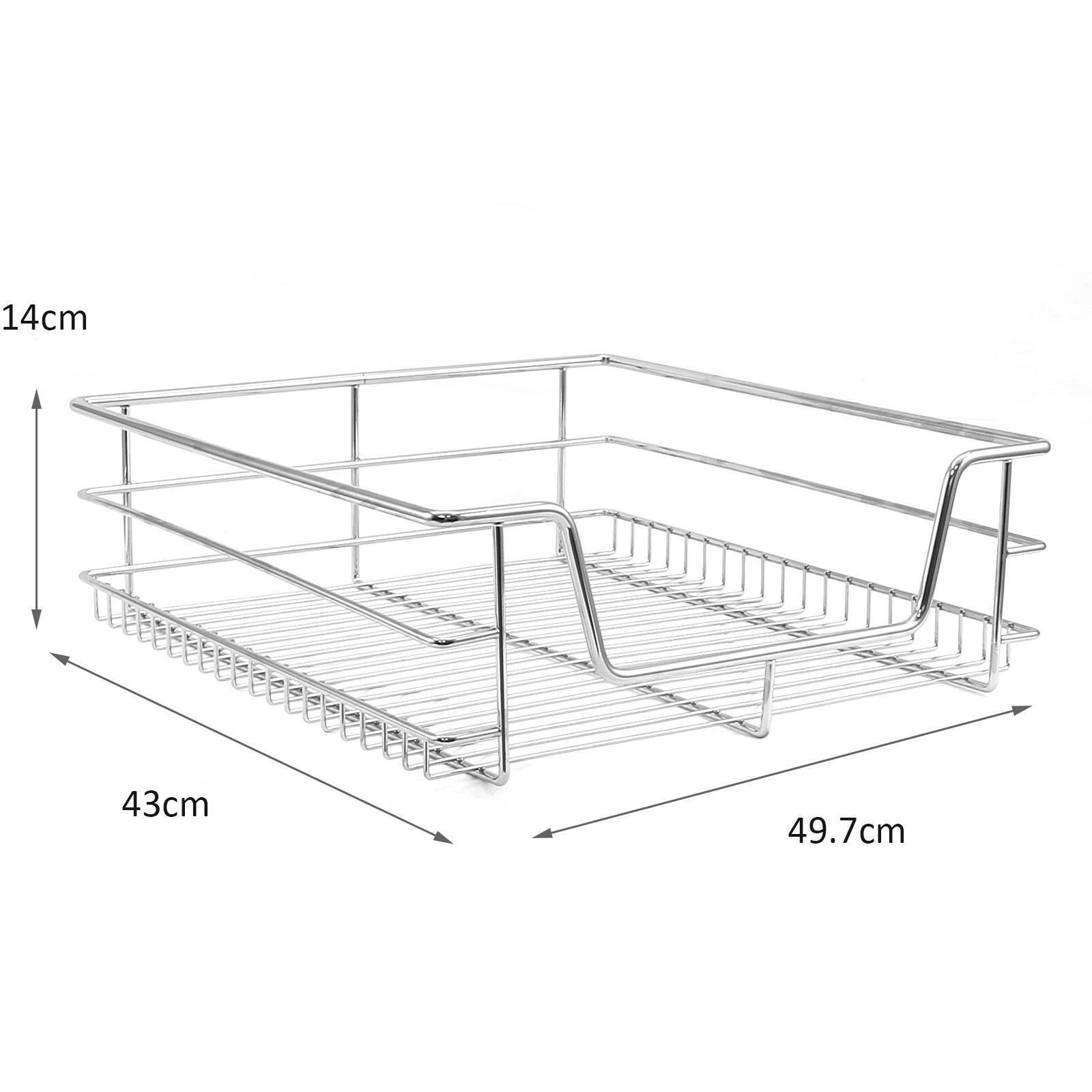 5 pull out kitchen wire baskets slide out storage cupboard drawer larder 60cm