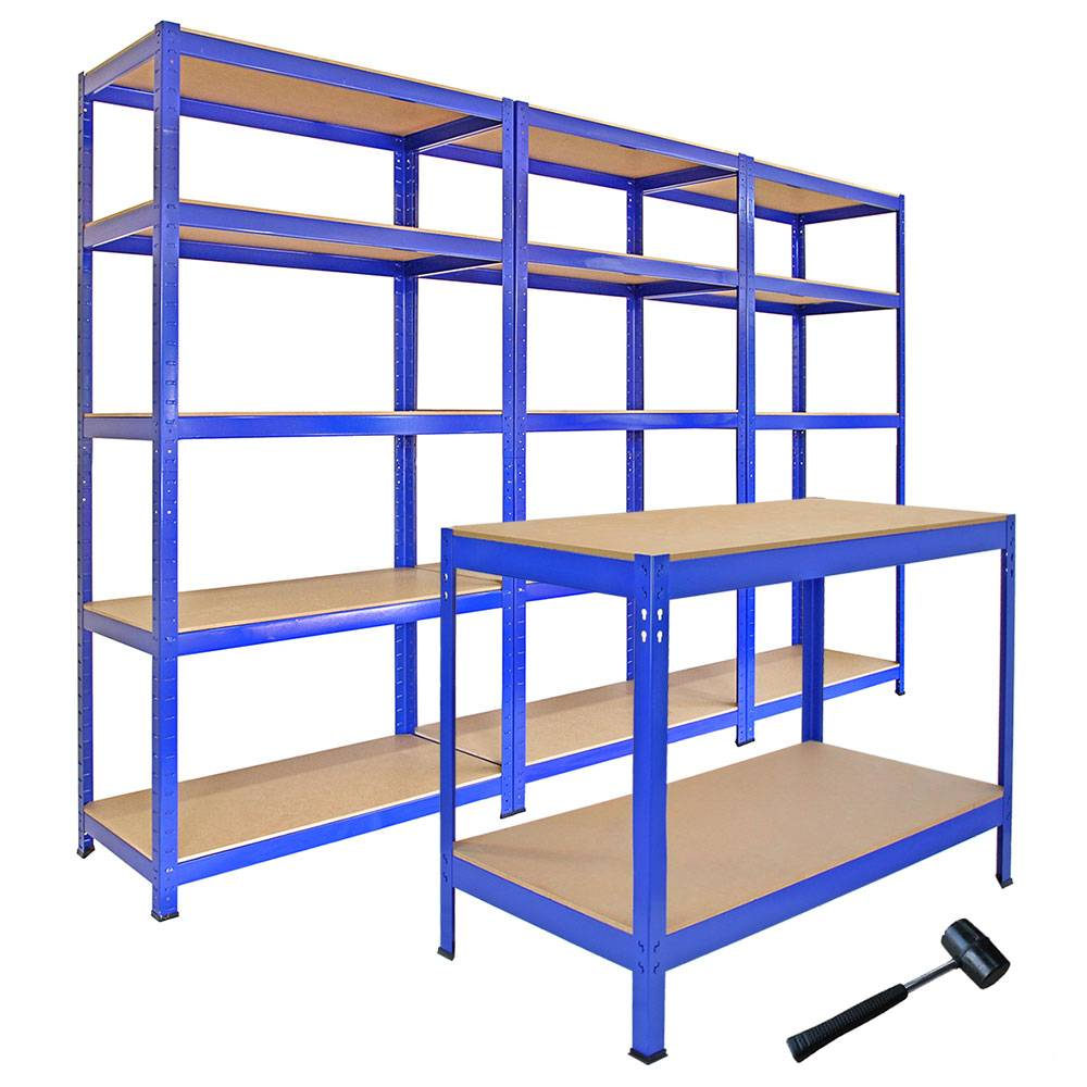 Garage Organization Shelving: F3 T-Rax Steel Racking Garage Shelving 5 Tier Shelves