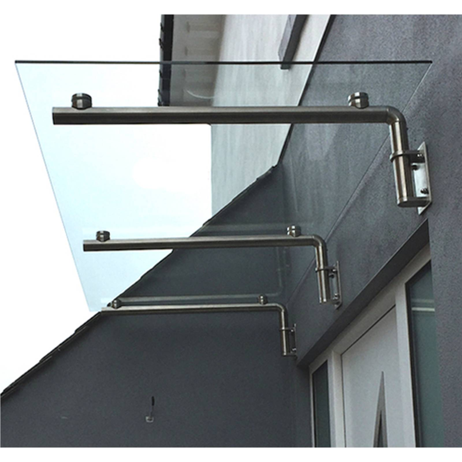 Glass Door Canopy Porch Stainless Steel Balcony Shelter