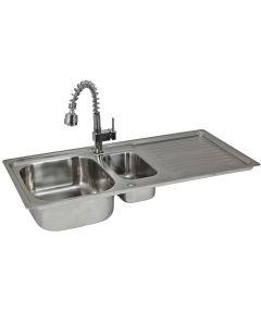 Premium Stainless Steel Kitchen Sink & Padstow Tap F1