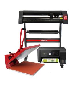 PixMax Heat Press Clam 50 x 50cm, Vinyl Cutter & Printer Bundle