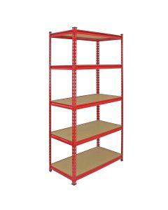 Monster Racking Z-Rax Extra Strong Steel Shelves, Red, 90cm W, 45cm D