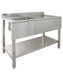 KuKoo Commercial Stainless Steel Sink - Right Hand Drainer