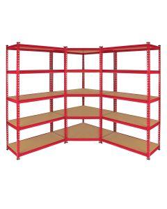 Z-Rax 90cm Racking Bundle: Corner Shelving and 2 Garage Racking Bays
