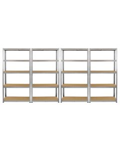 Monster Racking 4 x Galwix Galvanised Steel Shelves, 90cm Wide