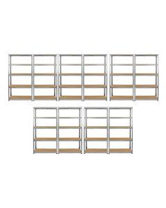 Monster Racking 10 x Galwix Galvanised Steel Shelves, 90cm Wide