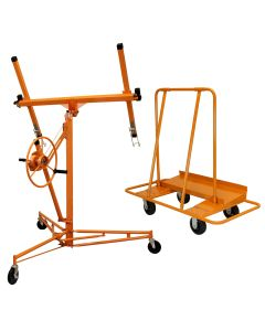 Drywall Lifter Hoist 16ft & Plaster Board Trolley