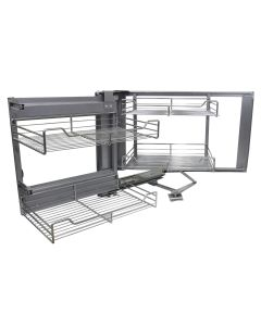 KuKoo Corner Kitchen Cupboard Pull Out Drawers - Left/Right Hand