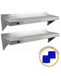 2 x KuKoo Stainless Steel Shelves 1250mm x 300mm