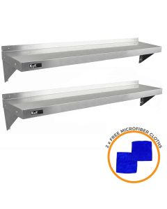 2 x KuKoo Stainless Steel Shelves 1500mm x 300mm