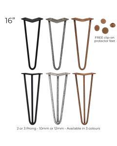 """4 x 16"""" Hairpin Steel Table Furniture Legs"""