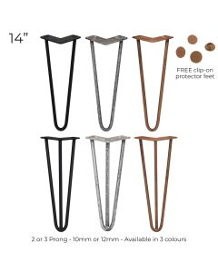 """4 x 14"""" Hairpin Steel Table Furniture Legs"""