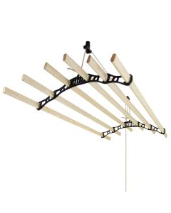 Clothing Airer Ceiling Pulley - Black - 1.2m