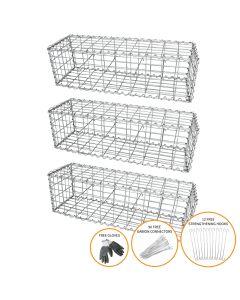 Gabion Baskets 100 x 30 x 30cm / 3 Pack