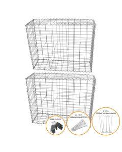 Gabion Baskets 100 x 80 x 30cm / 2 Pack