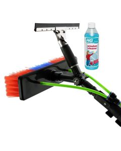 24ft Water Fed Window Cleaning Pole and Streak Free Cleaner