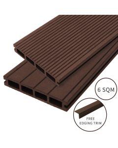 Jardí Composite Decking - 6 SQM - Conker Brown
