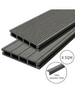 Jardí Composite Decking - 8 SQM - Castle Grey