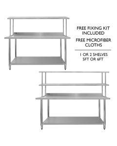 Catering Bench With Over-Shelf Bundles