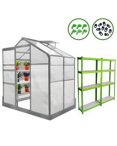 Greenhouse 6ft x 4ft With Base And Racking