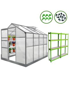 Greenhouse 6ft x 8ft With Base And Racking