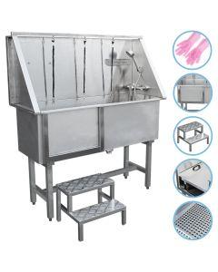 Pet Dog Bath Steel Tub Washing Station 400mm