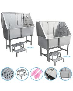 Dog Grooming Bath Stainless Steel Pet Wash Stations