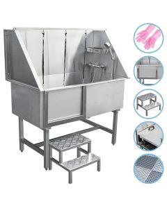Dog Grooming Bath Steel Pet Wash Station 600mm