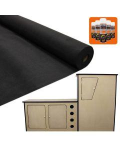 11sqm Black Van Lining & Glue With Camper Kitchen
