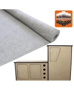 11sqm Silver Grey Van Lining & Glue With Camper Kitchen