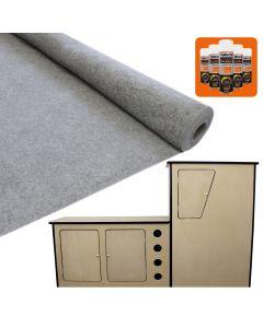 11sqm Smoke Grey Van Lining & Glue With Camper Kitchen