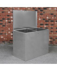 Galvanised Feed Store 2 Compartments
