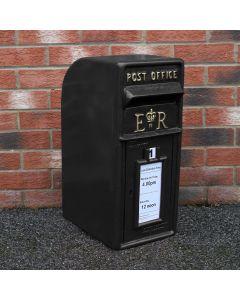 Black Royal Mail Post Box