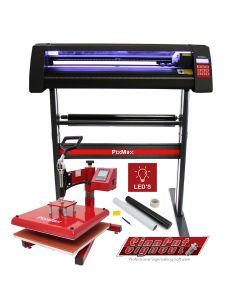 LED Vinyl Cutter With 38cm Swing Heat Press & Software