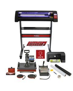 Vinyl Cutter LED, 5 in 1 Heat Press, Printer, Signcut Pro & Weeding Kit Bundle
