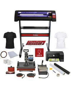 PixMax Da Vinci Bundle 5 in 1 Heat Press, LED Vinyl Cutter, Printer