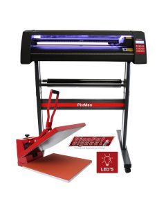 LED Vinyl Cutter With 50cm Clam Heat Press & Software