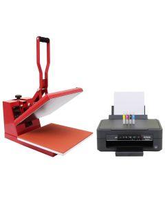 38cm Clam Heat Press & Epson Printer