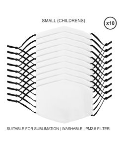 Small Face Masks Sublimation Blanks / 10 Pack